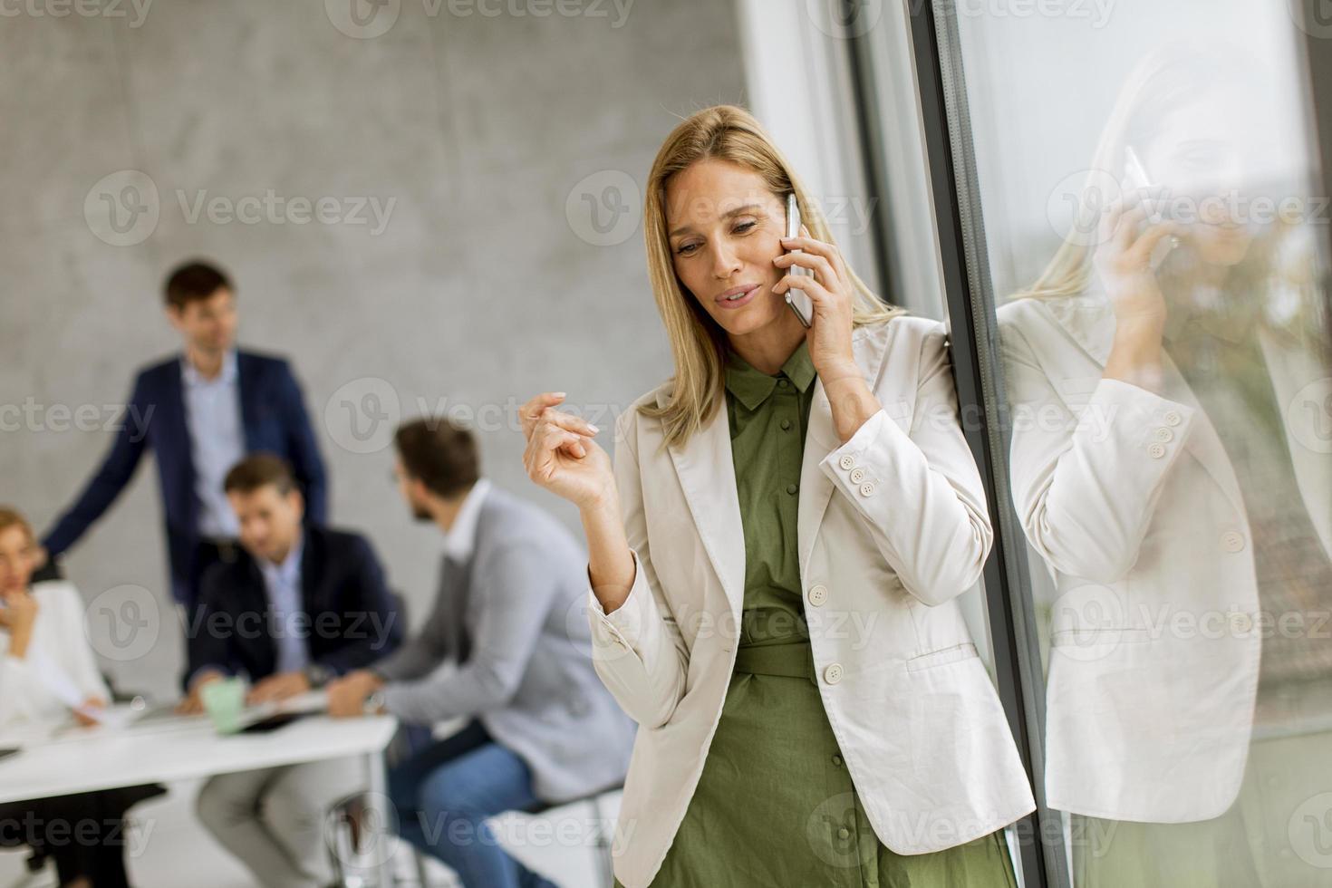 Businesswoman on phone photo