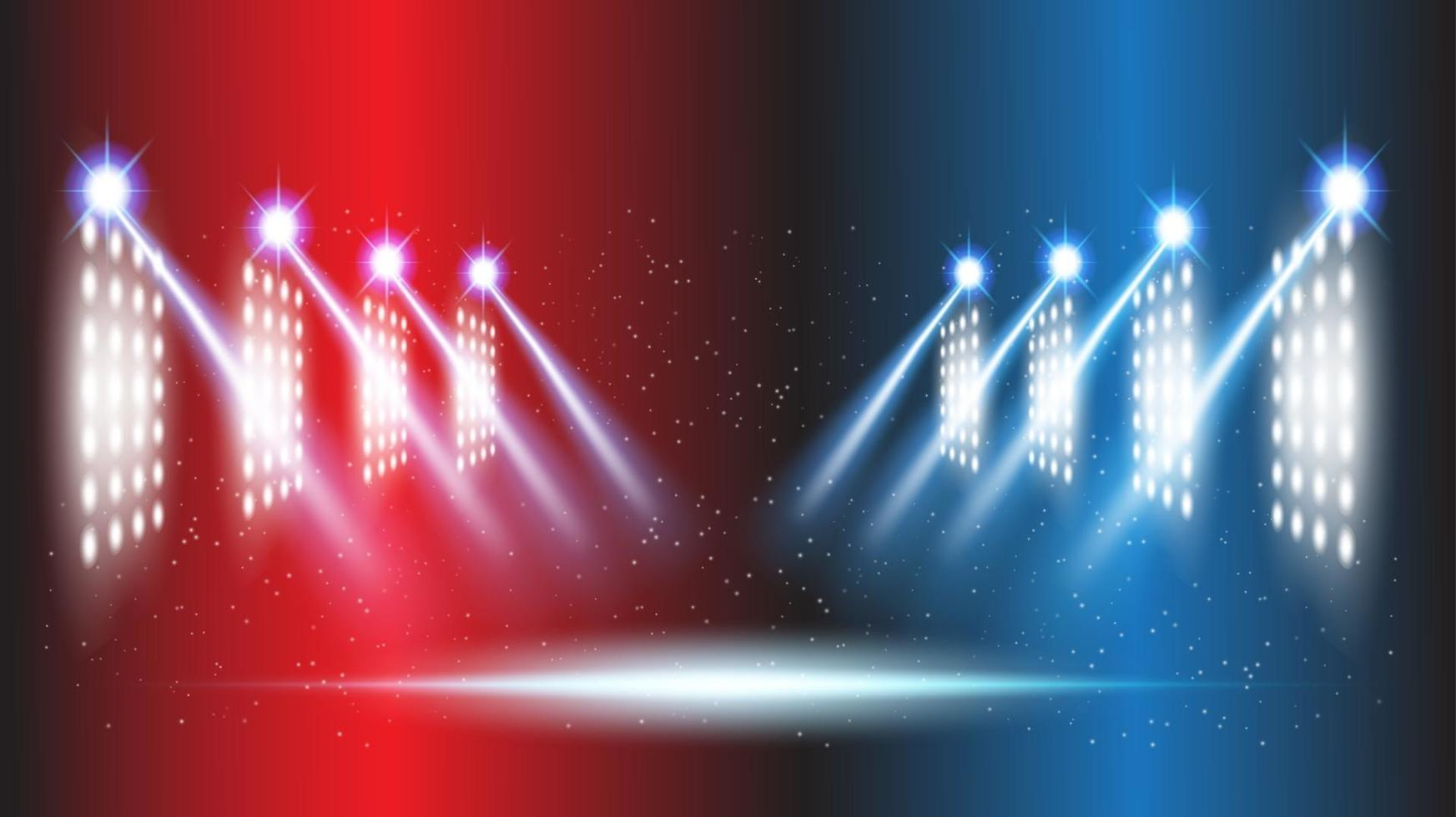 Abstract background stadium stage hall with scenic lights of round futuristic technology vector