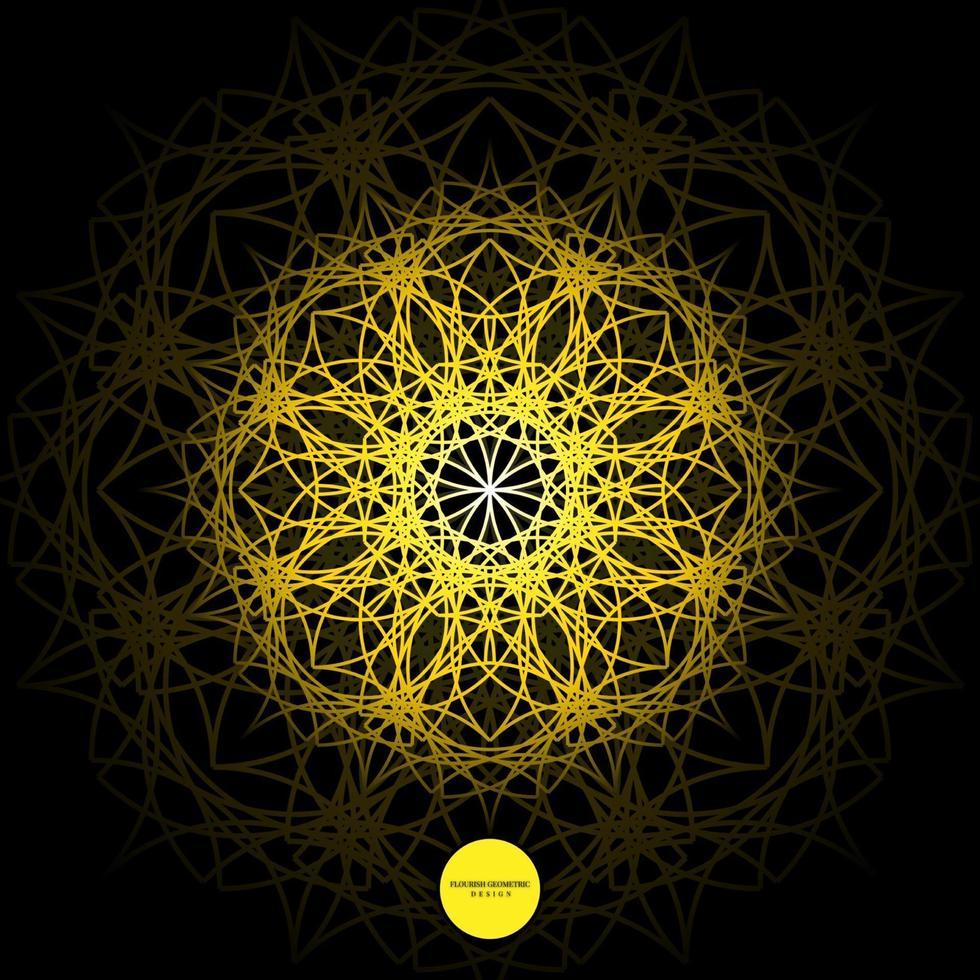 ilustration graphic vector of flourish geometric design