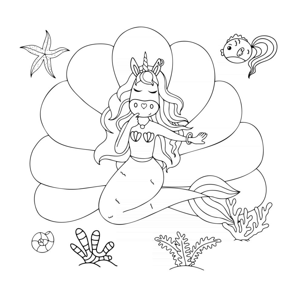 illustration with a unicorn for children and adult books clothing office supplies vector