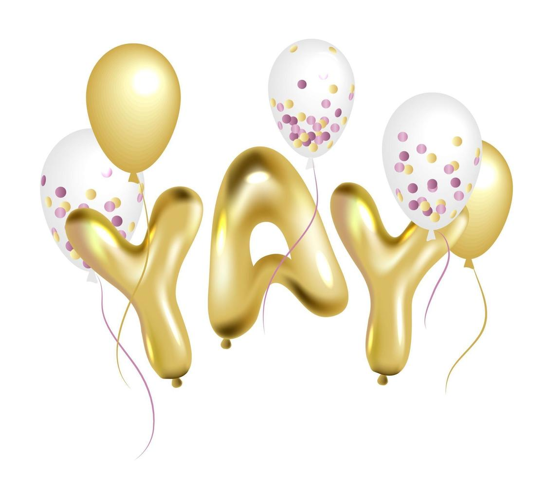 Party balloons Vector elements for birthday card new year design