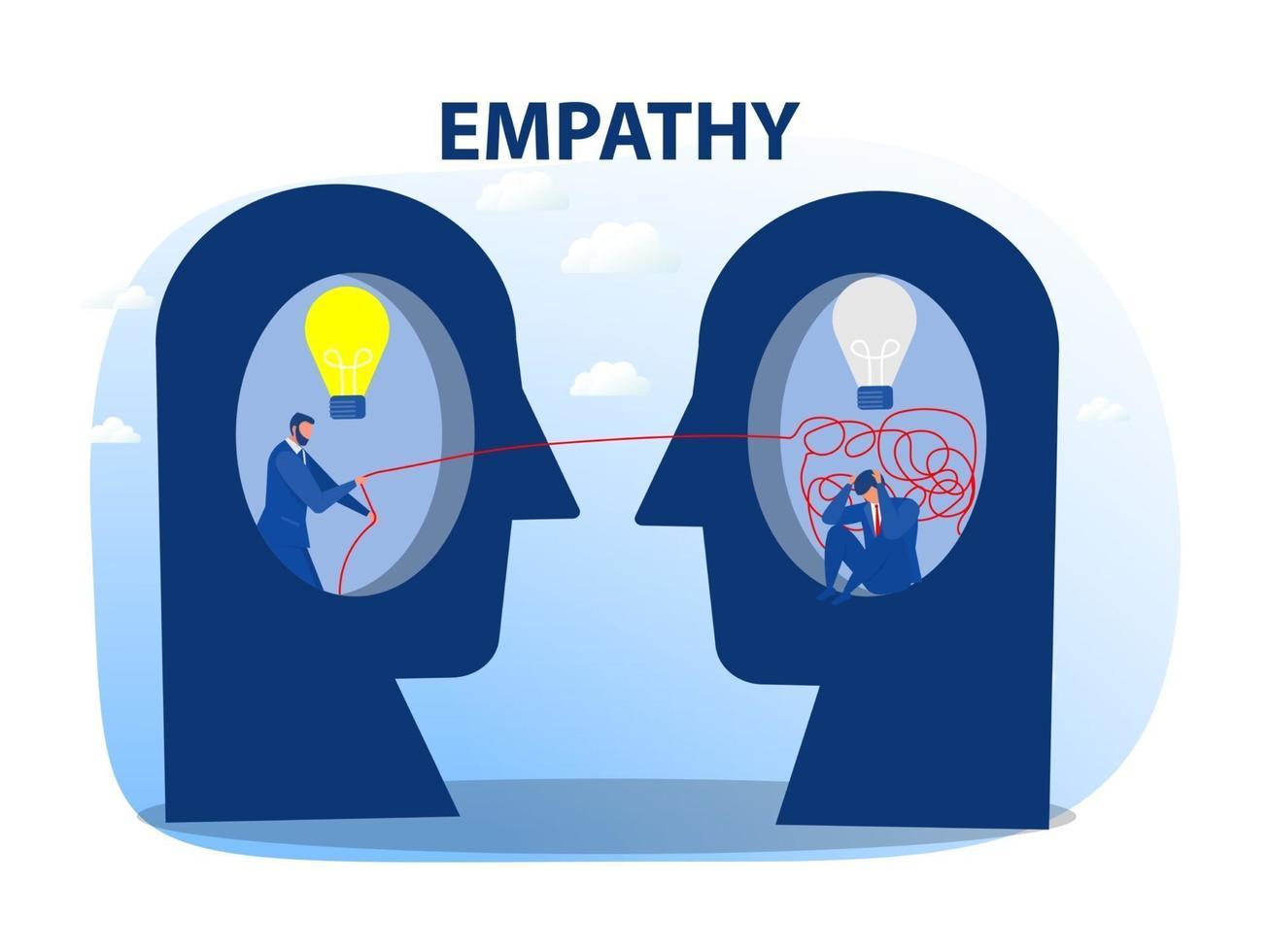 Schizophrenia concept with cognitive trap illustration vector