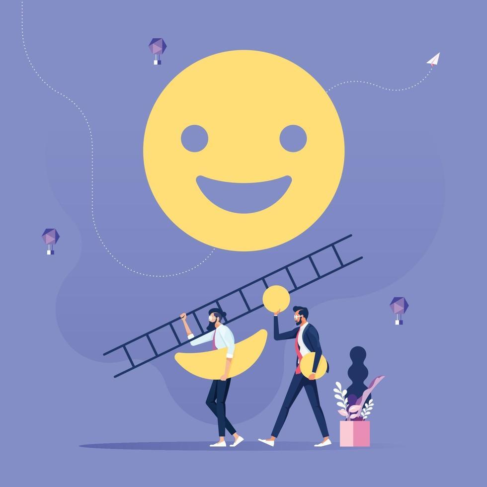 el cliente hace una revisión o retroalimentación de la calidad del servicio. concepto de retroalimentación del consumidor vector