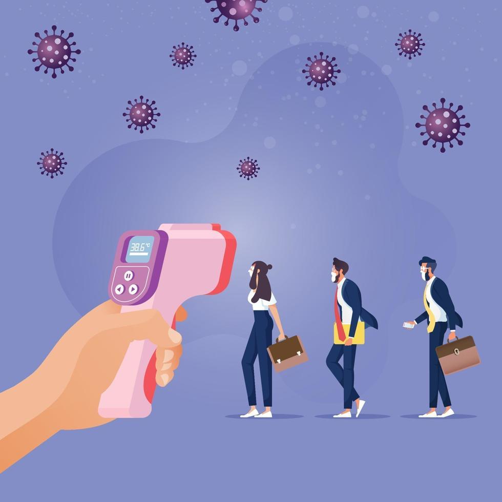 New normal social distancing lifestyle in COVID 19, Coronavirus era vector