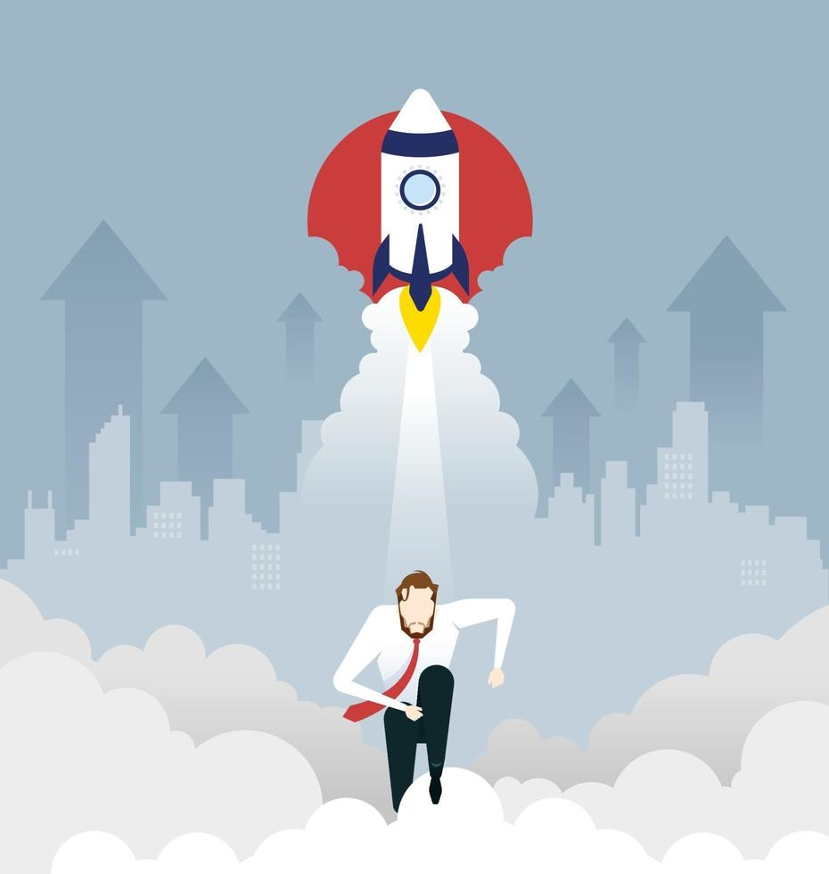 Businessman Start Up Project Business concept vector