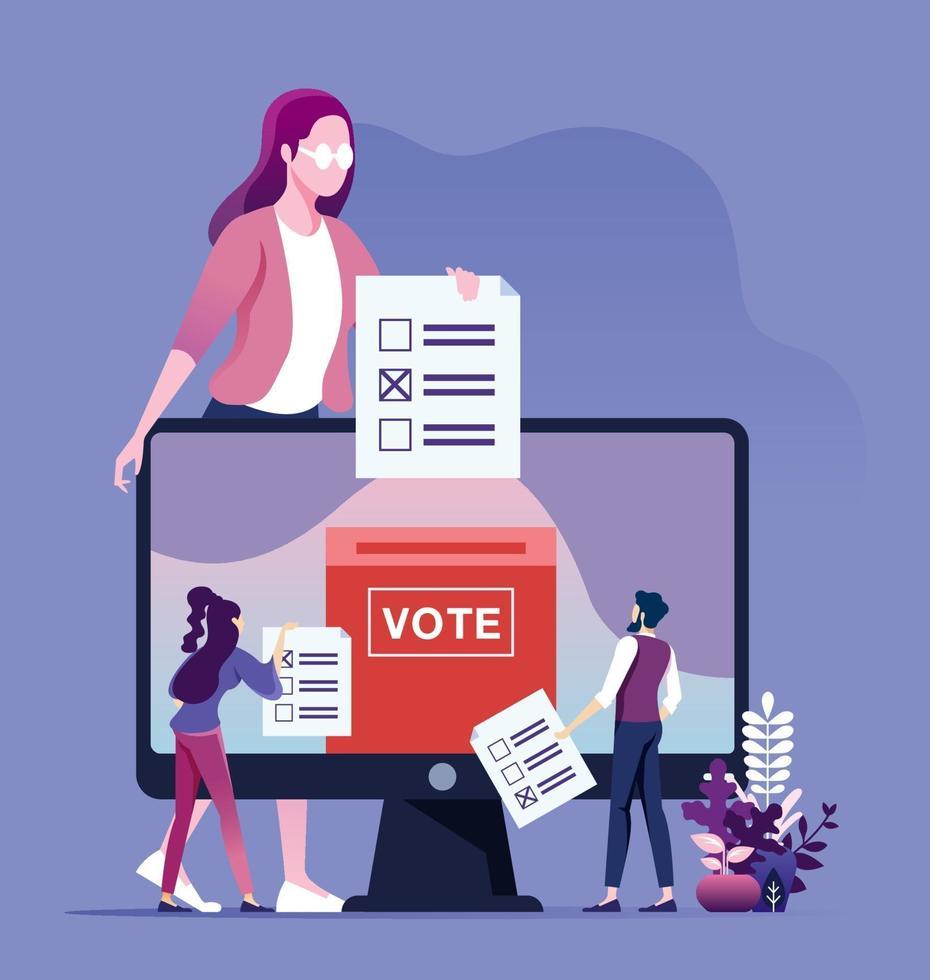 concepto de votación en línea vector