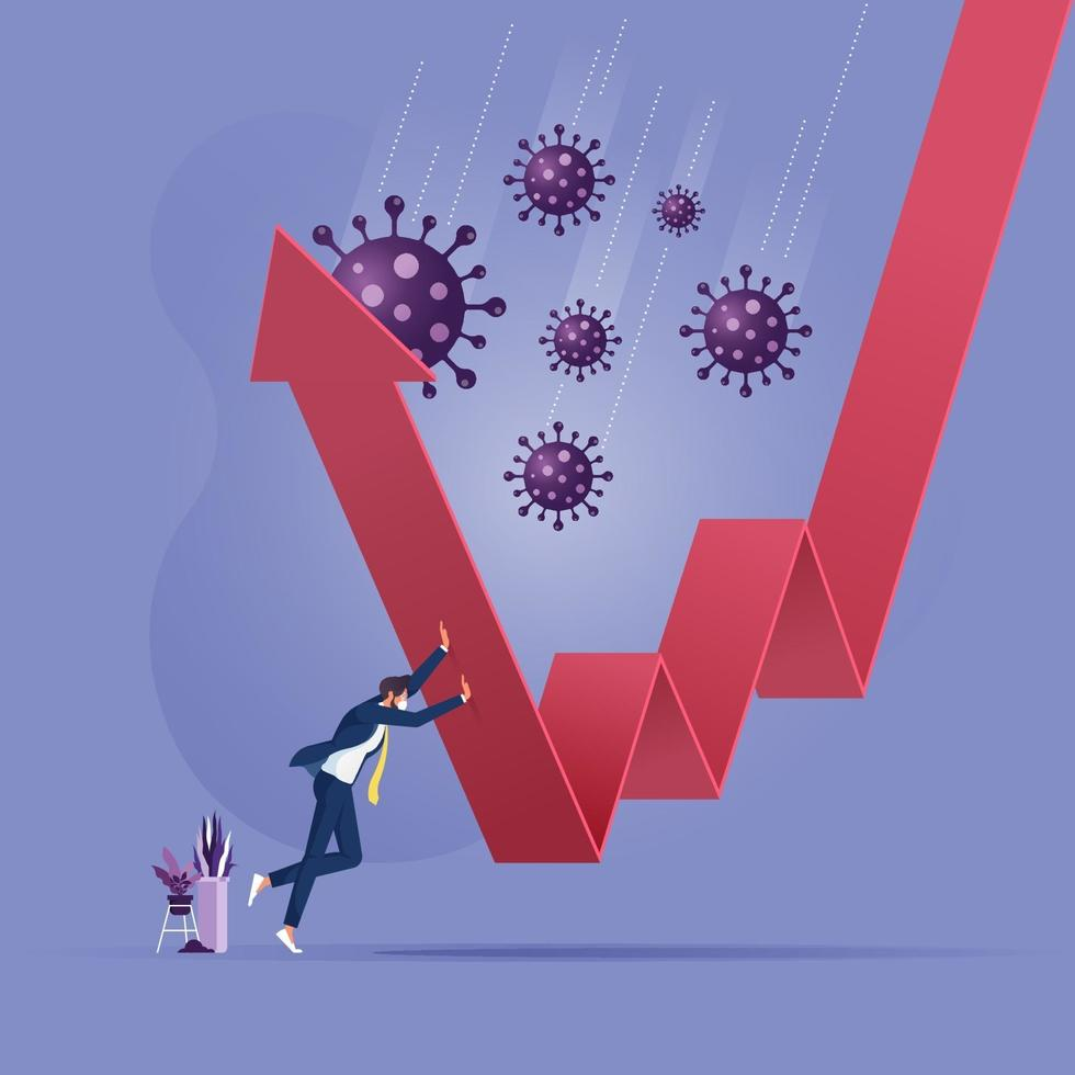 Fight to stop Coronavirus. COVID 19 outbreak crisis concept vector
