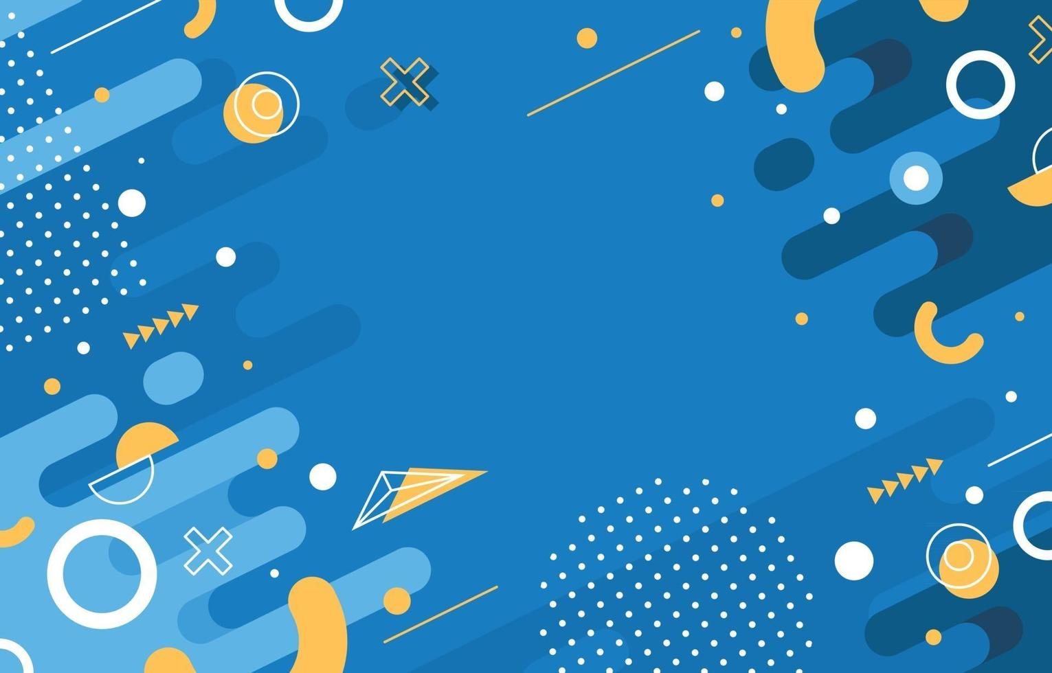 Flat Abstract Blue Background vector