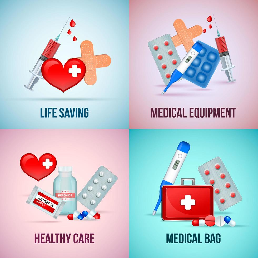 First Aid Realistic Concept Vector Illustration