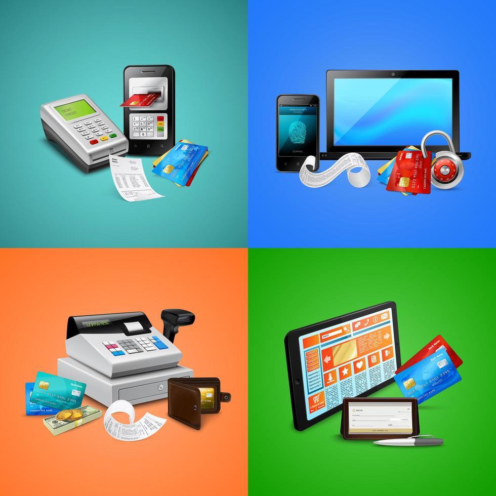 Payment Realistic Design Concept Vector Illustration