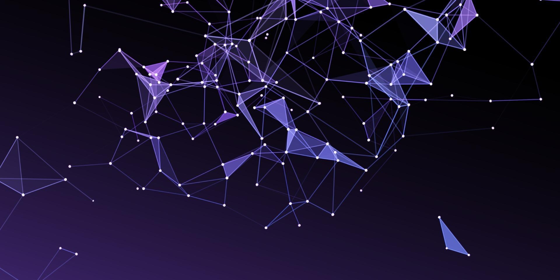 network communications banner with low poly design vector