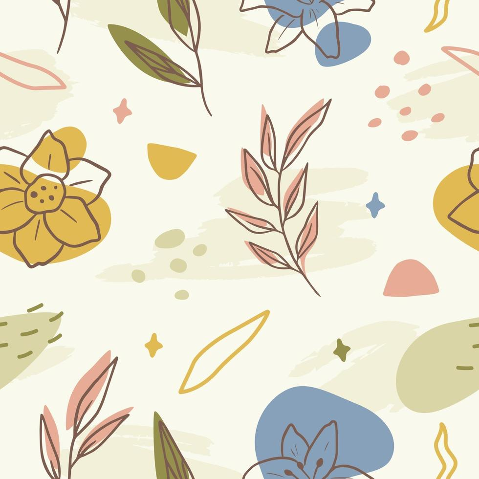 Abstract Floral Pattern Background vector