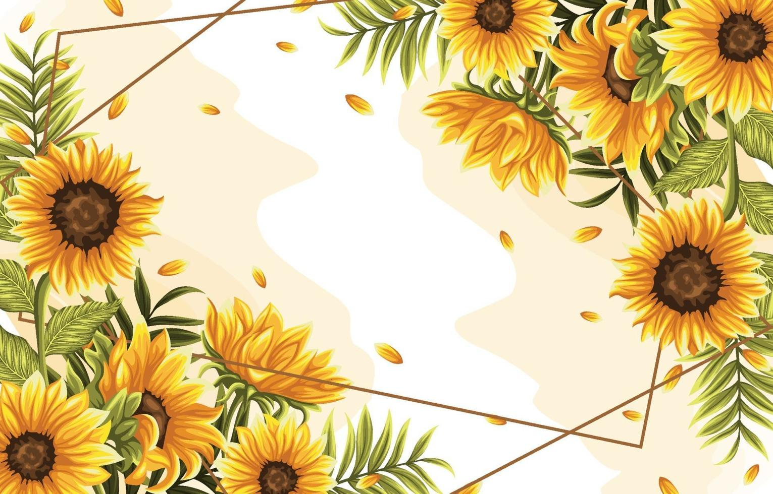 Tropical Flower and Leaves Background vector