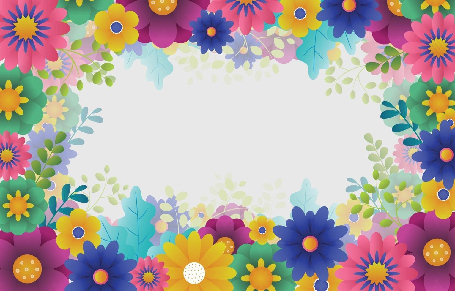 Beauty Flowers Background vector