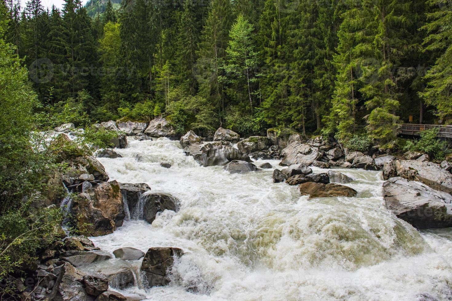 Alpine river Otztaler Ache in the Austrian Tyrol photo