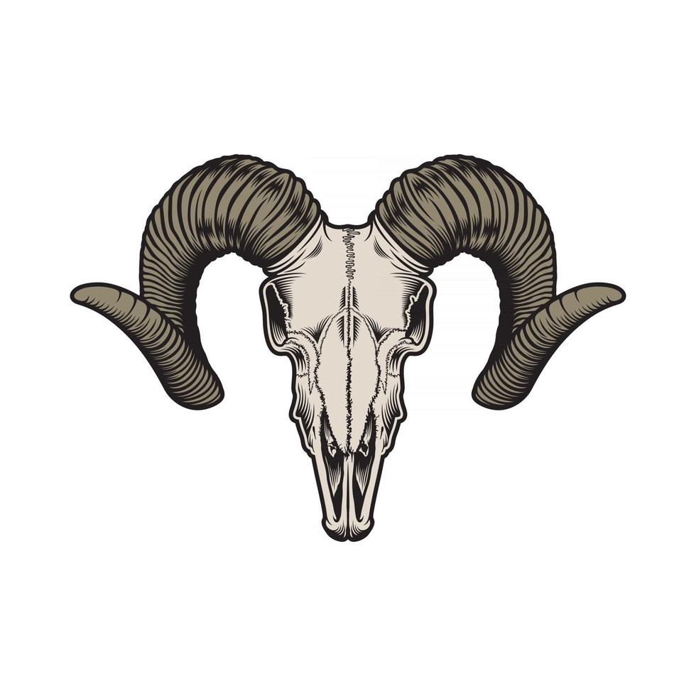 Goat Skull Vector Graphic