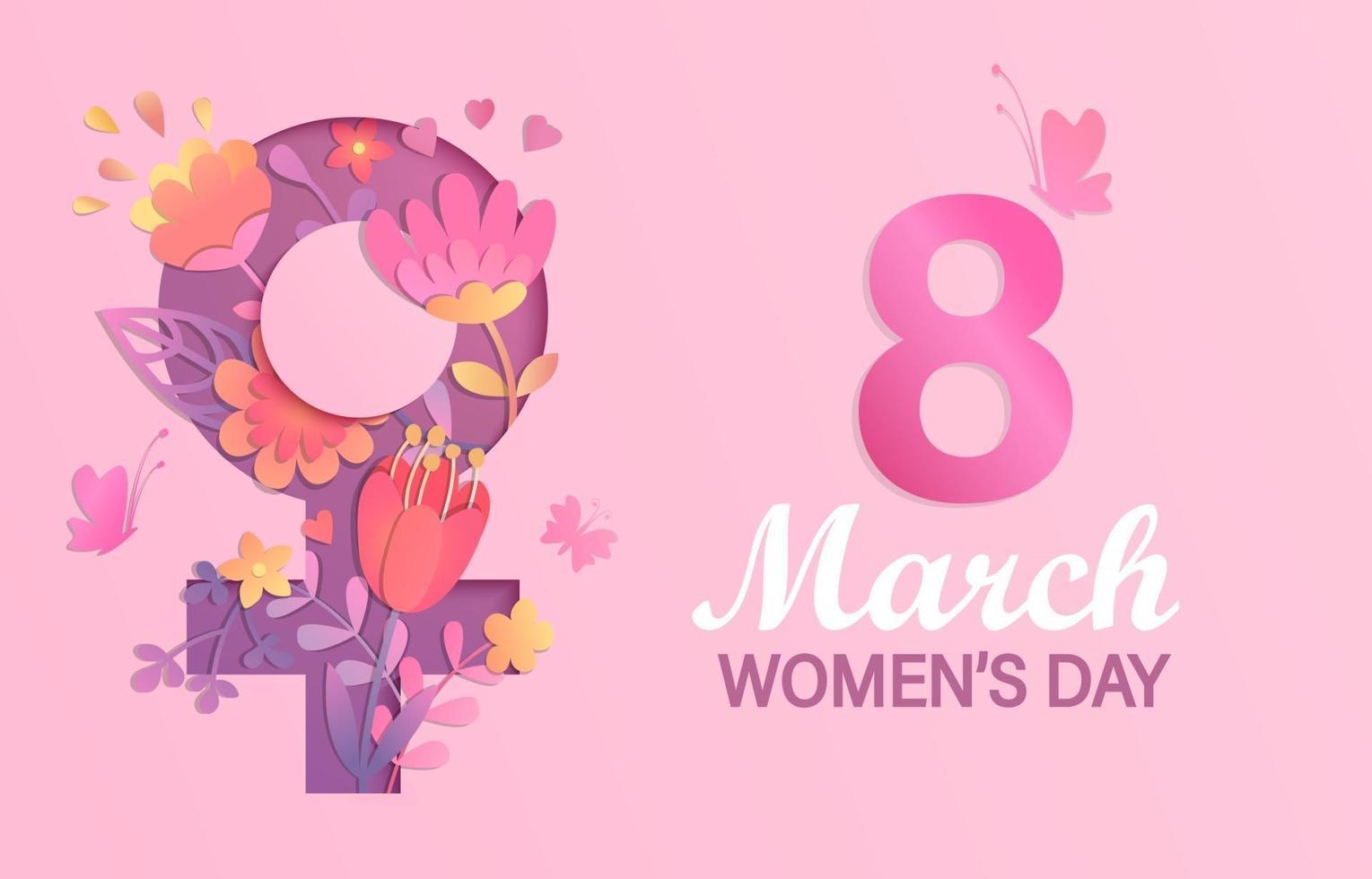 Banner for International Women's Day vector