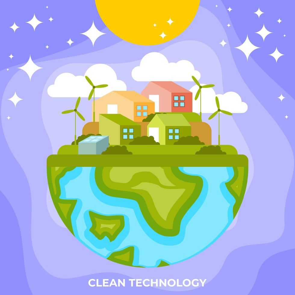 Clean and Green Technology vector
