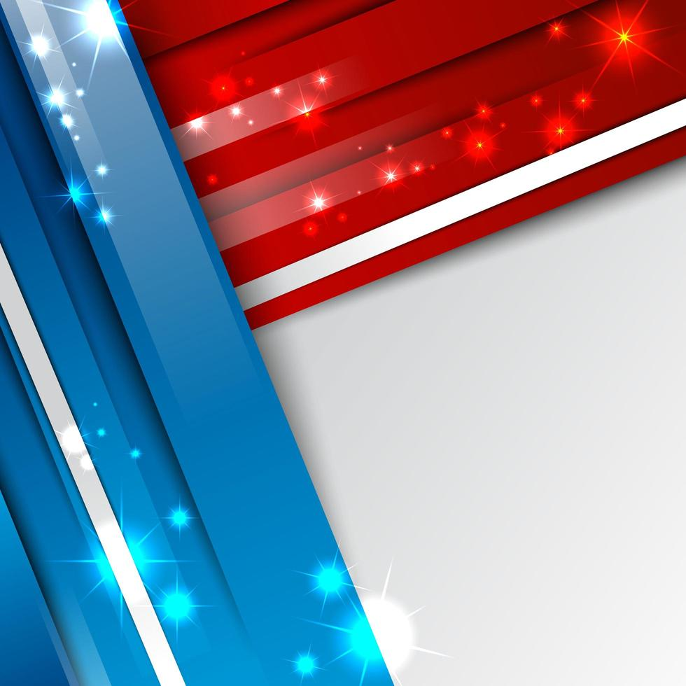 Modern 3D Red Blue and White Abstract Background vector