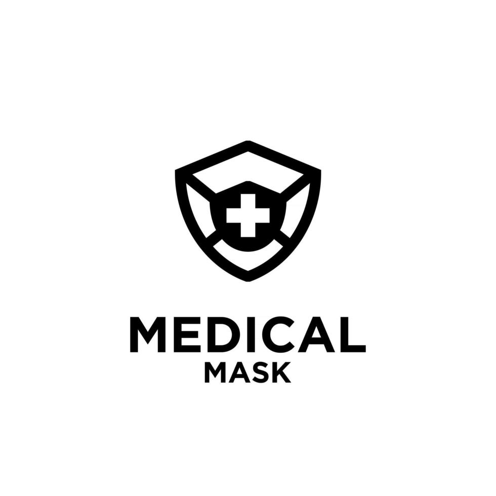 Medical Mask Icon Vector Logo Template Illustration Design