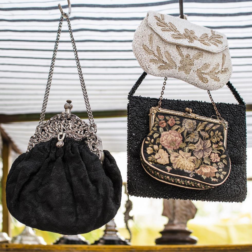Antiques market objects arrangement photo
