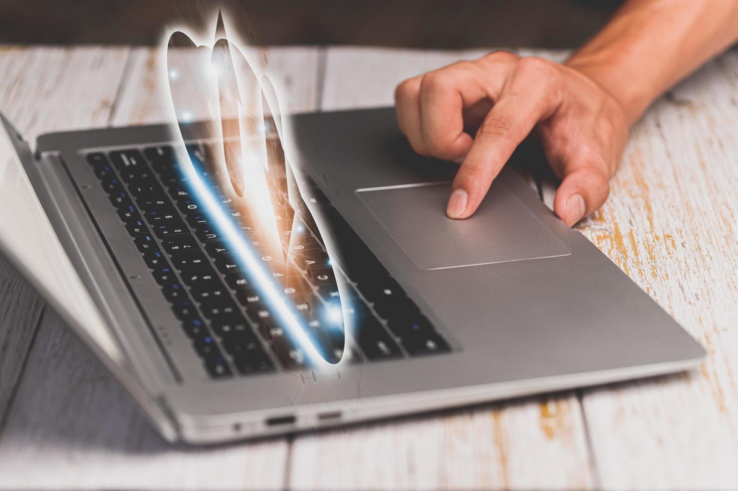 Show online storage symbols Use computer photo