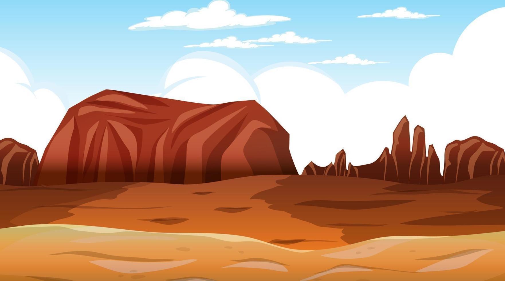 Desert forest landscape at daytime scene vector