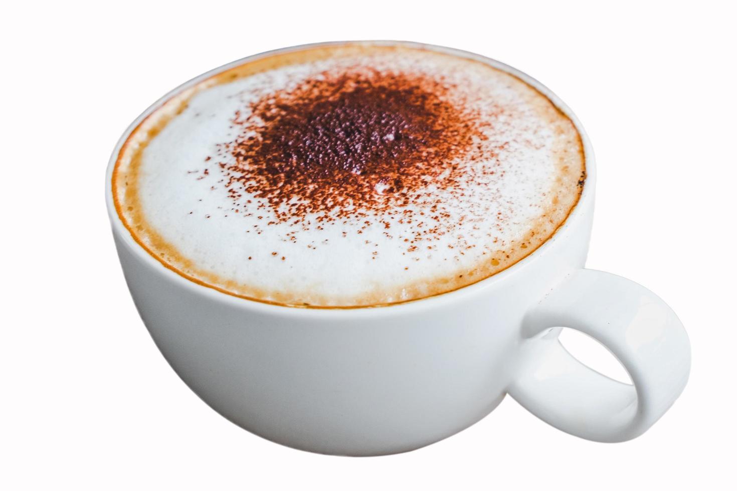 una taza de café aislado sobre fondo blanco foto