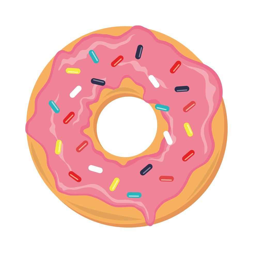 sweet donut dessert vector