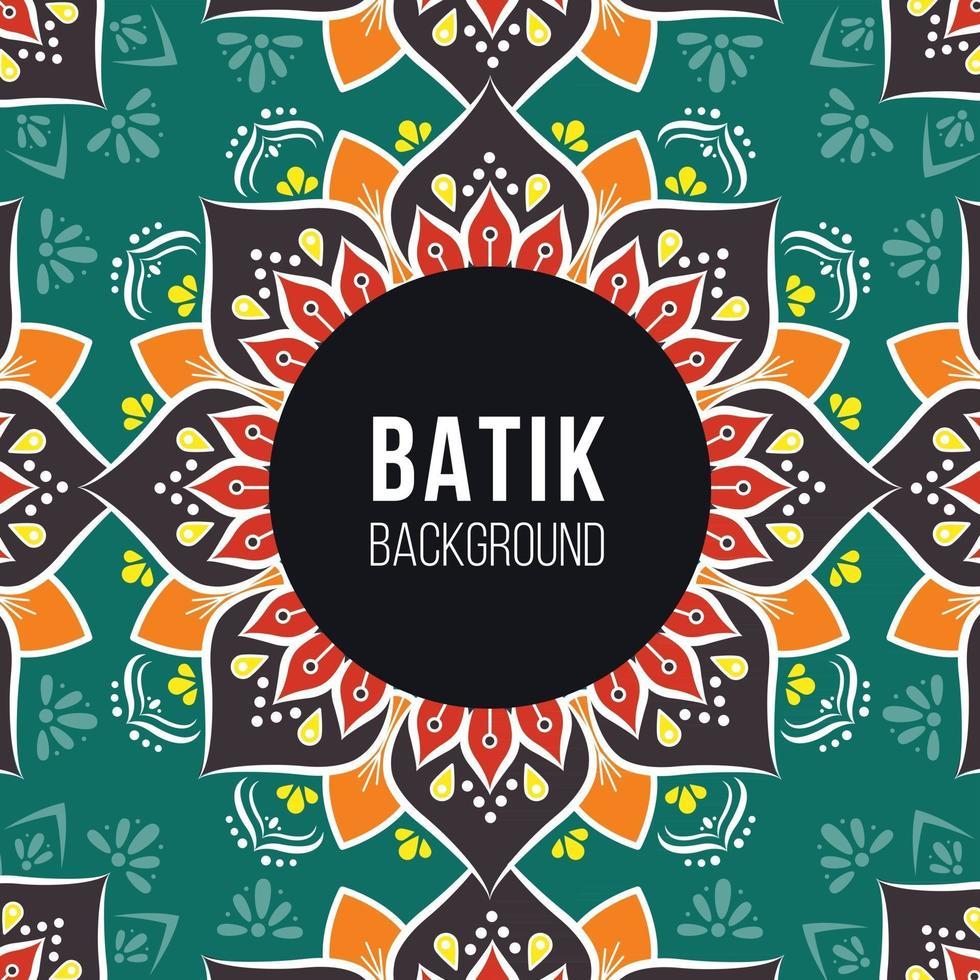 Dark Green and Brown Indonesian Batik Pattern Background vector