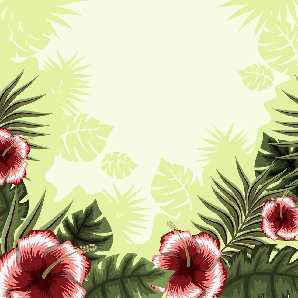 Summer Tropical Floral Background vector