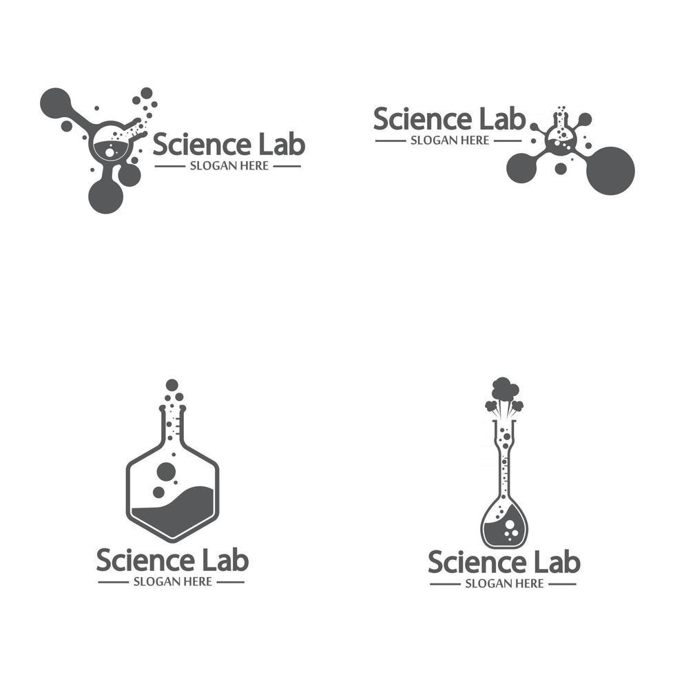 Laboratory logo and symbol vector