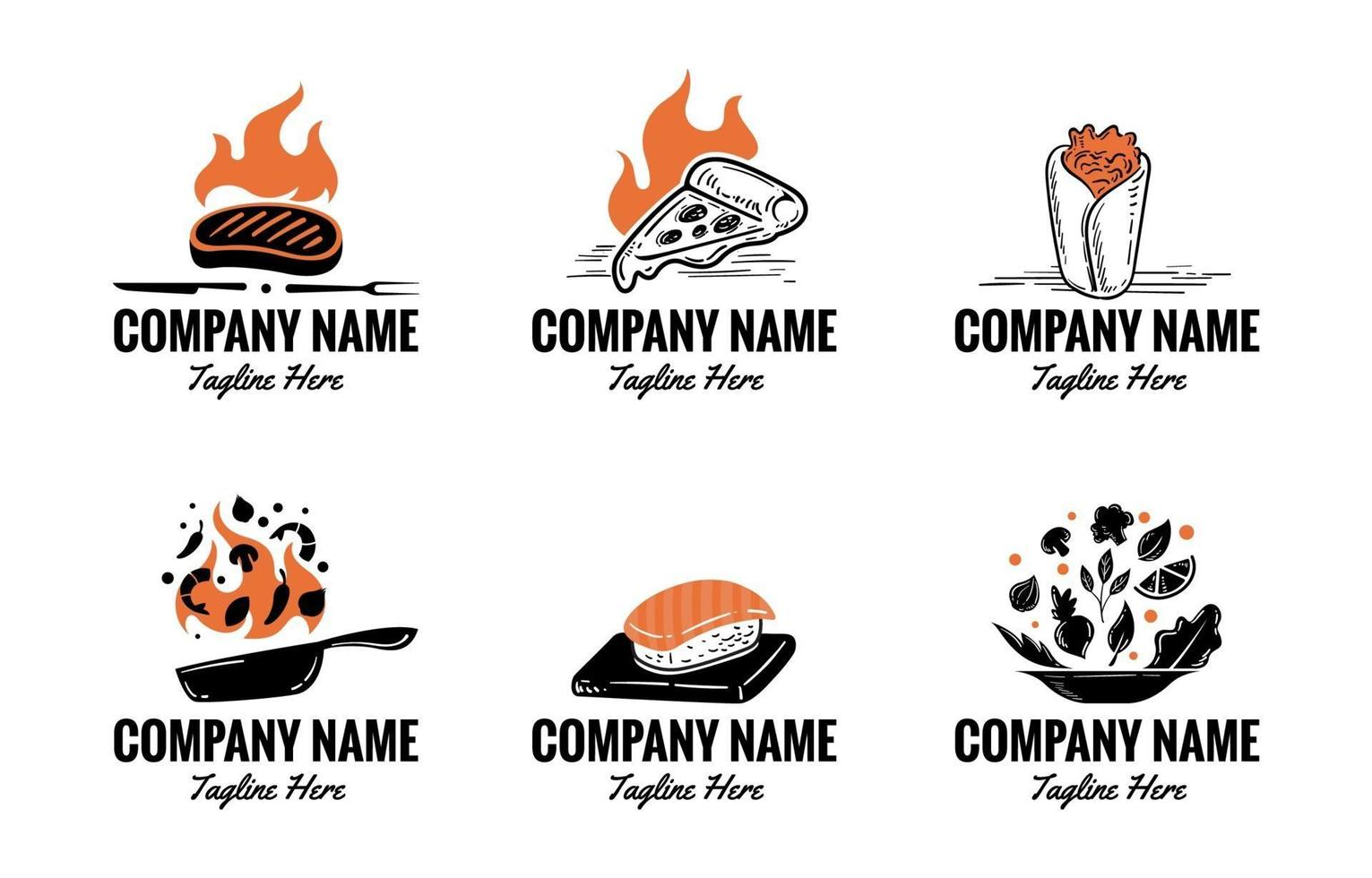 Set of Food Logos vector