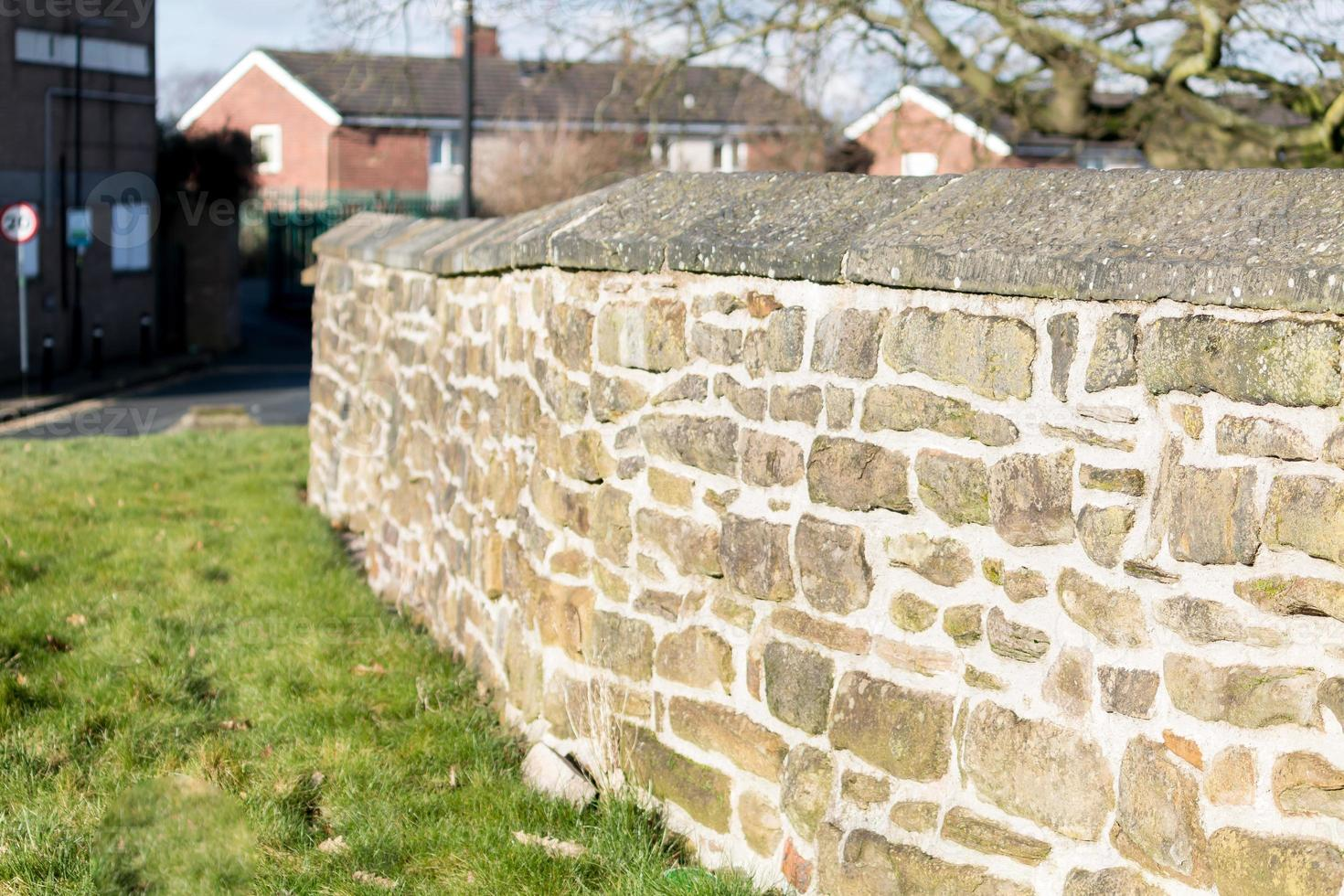 Stone Wall in the Sun photo