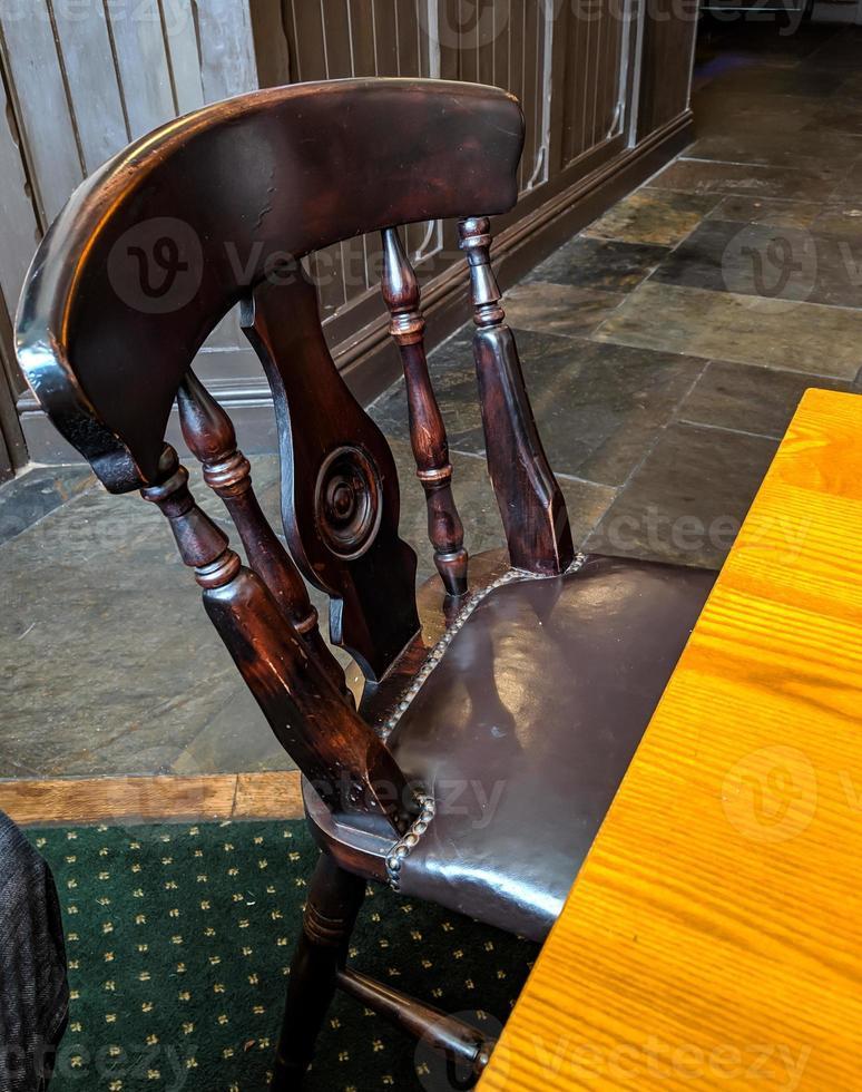 dark wooden chair photo