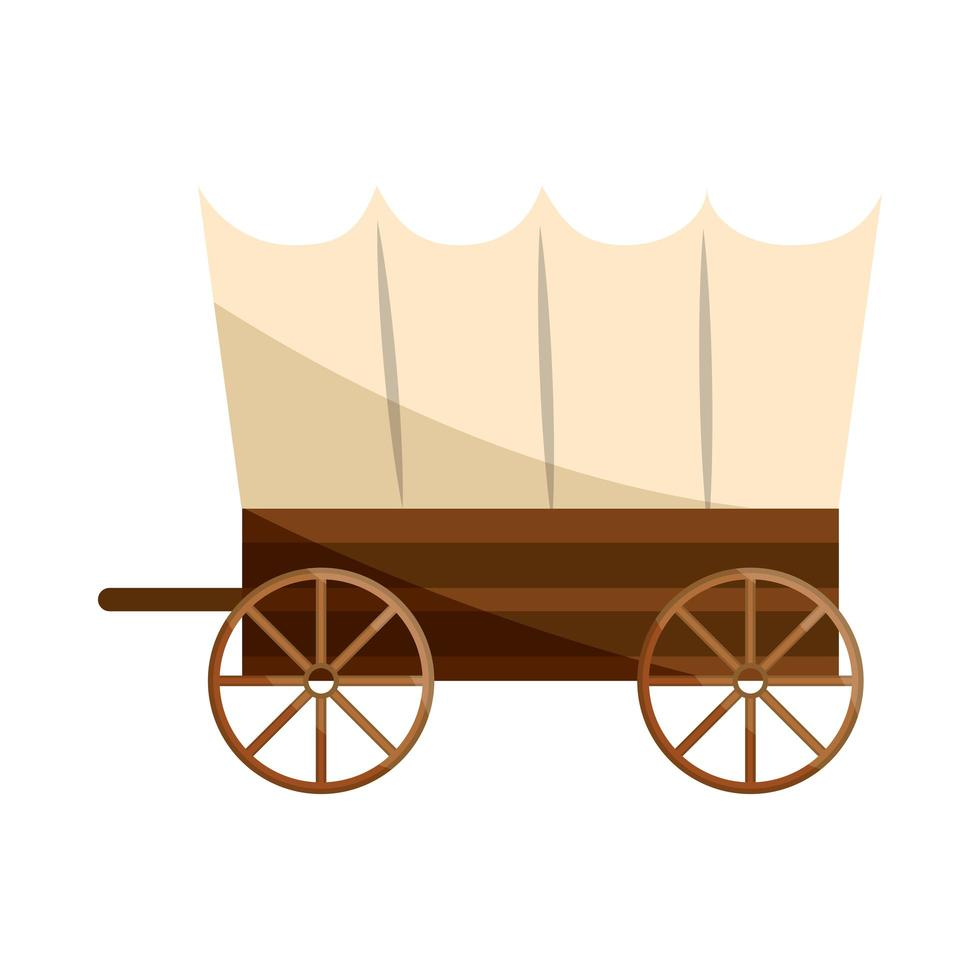old west carriage vector