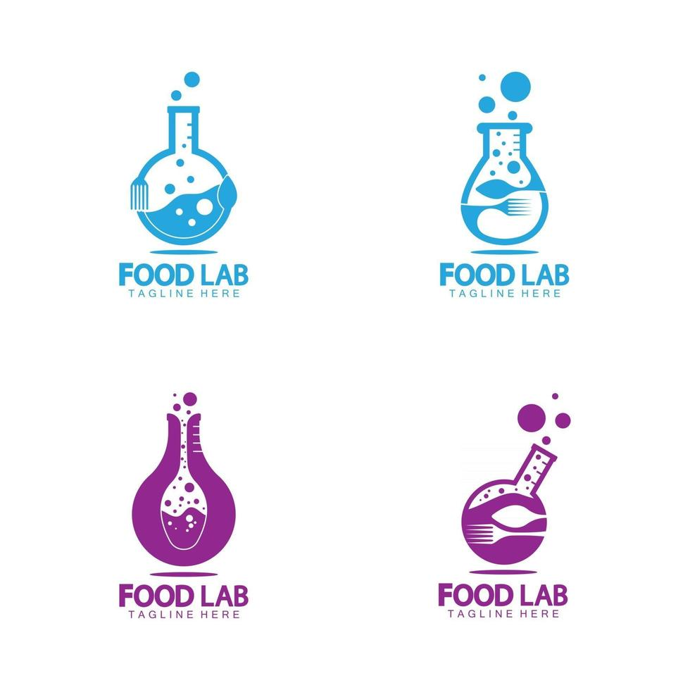 Food Lab logo vector icon illustration design template