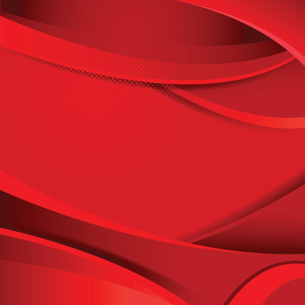 Red Abstract Geometric vector