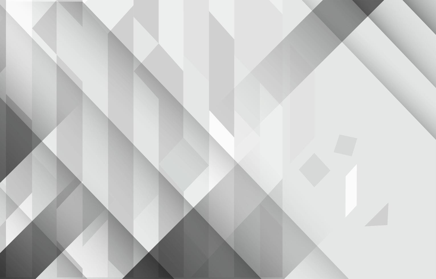White Geometric Rectangle In Playful Composition Background vector