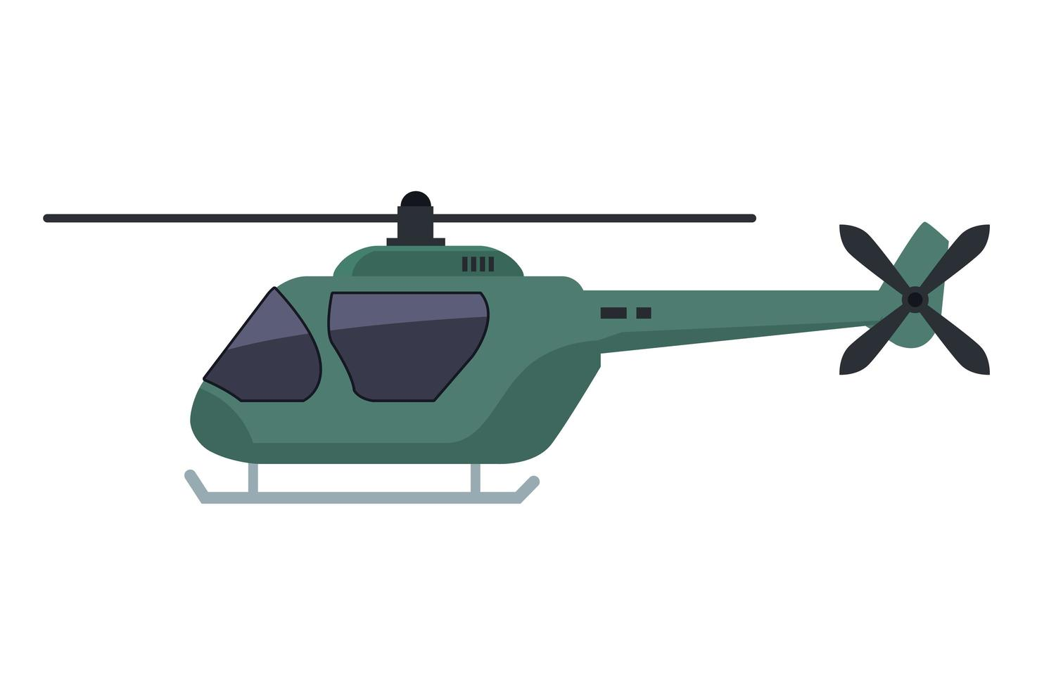 helicopter vehicle flying isolated icon vector