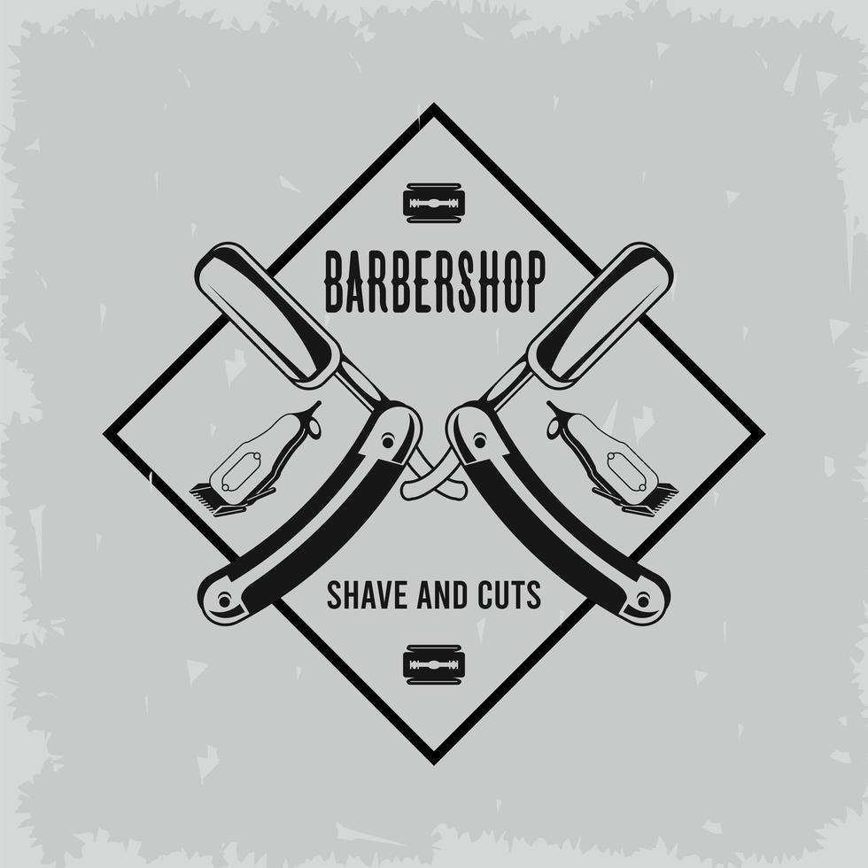 label barber shop vector