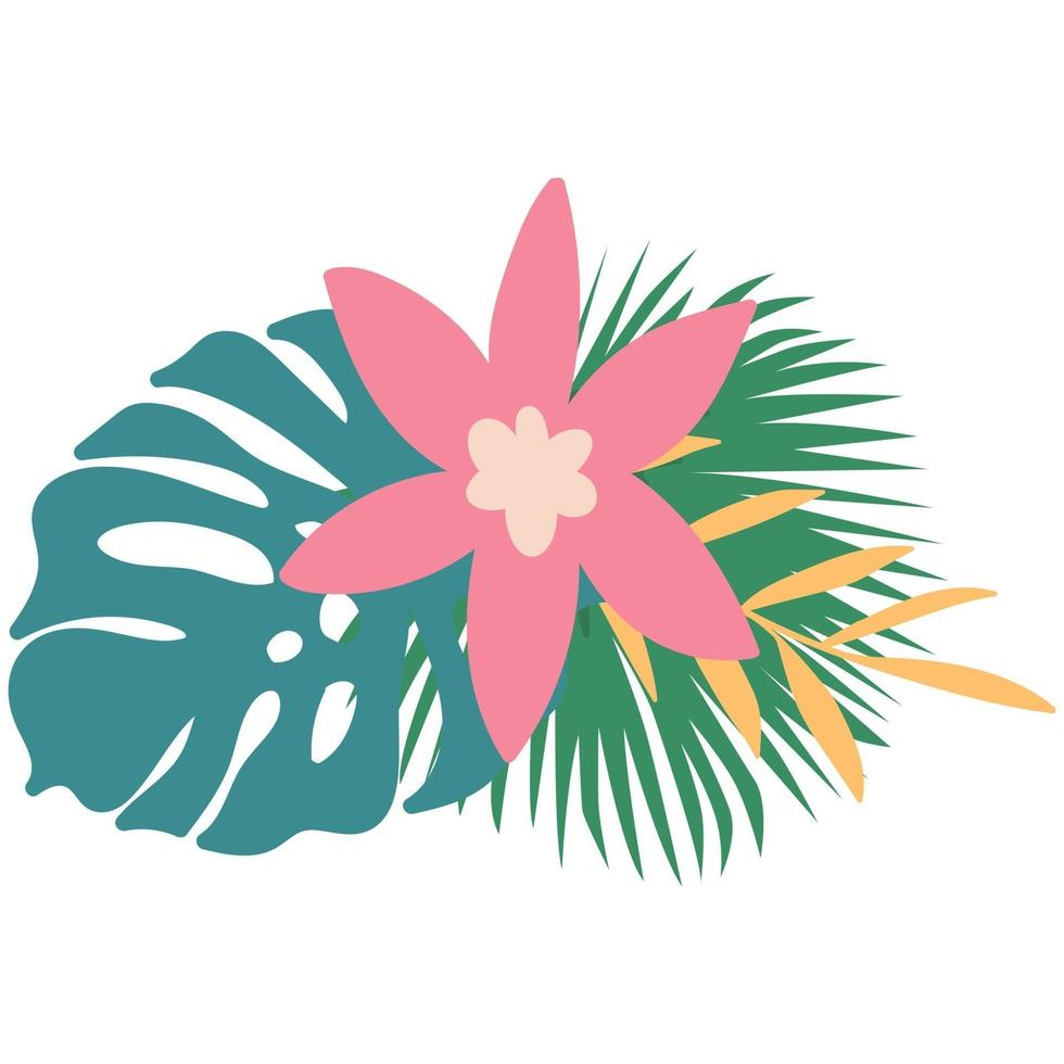 Vector Tropical summer leaves