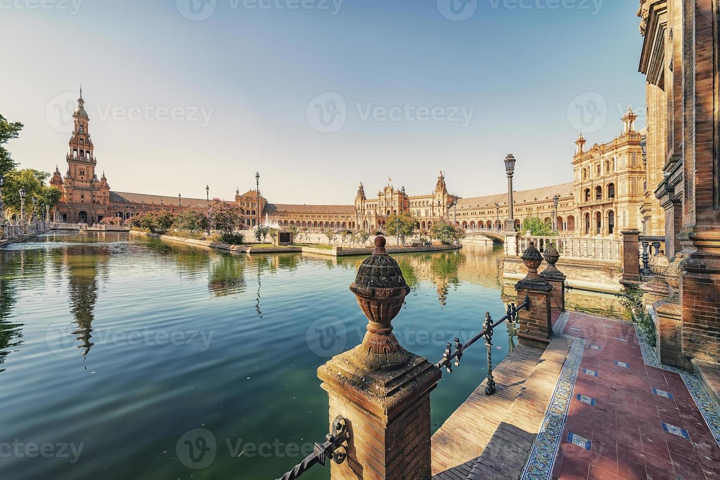 Plaza de Espana in Seville Andalusia Spain photo