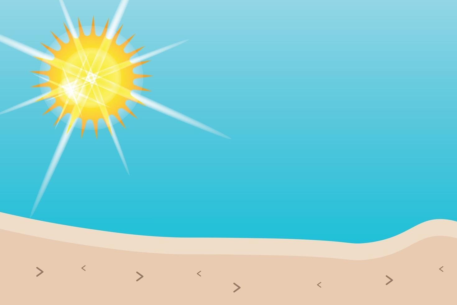summer beach with sunshine background vector