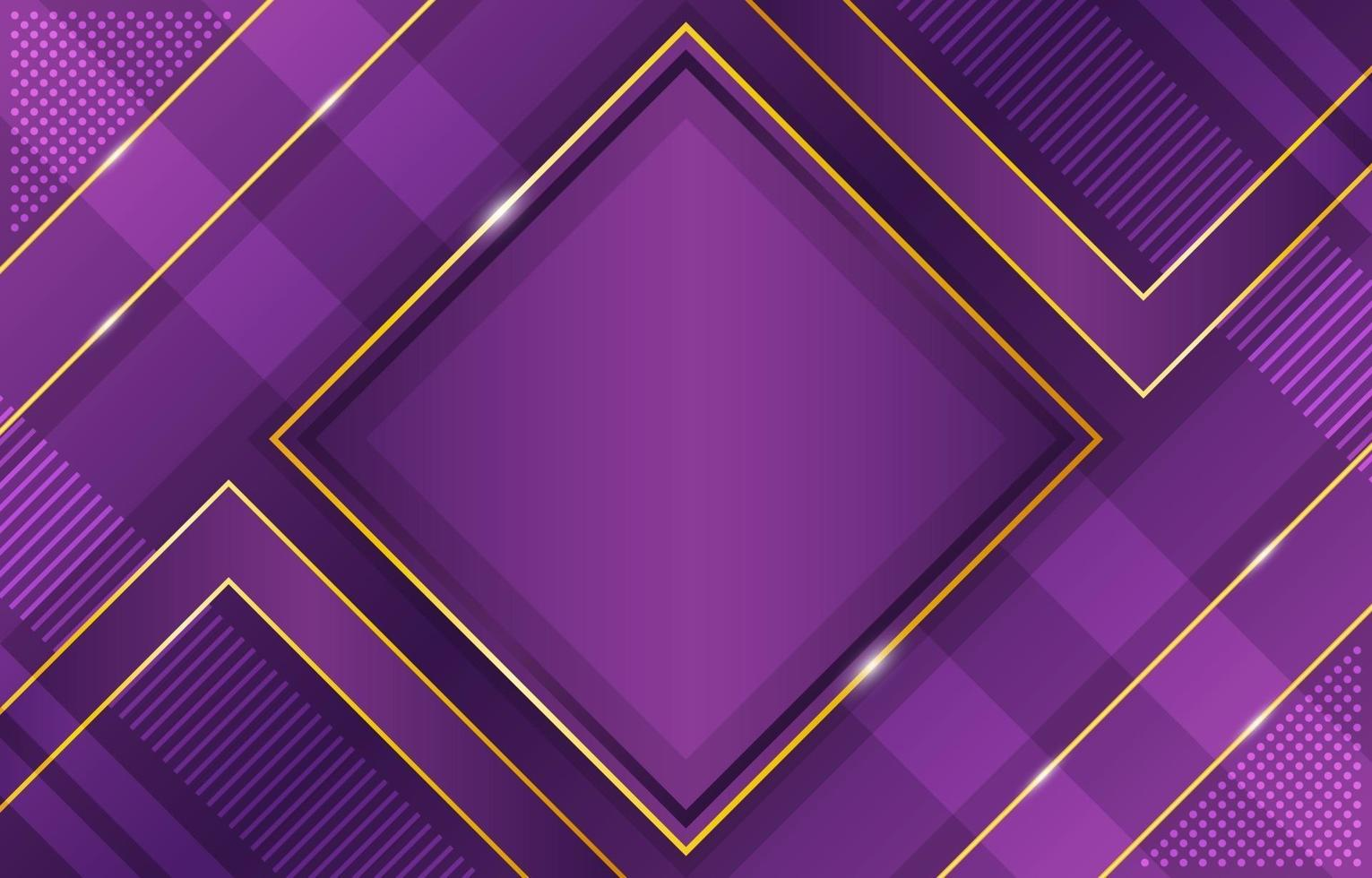 Gradient Geometric Lavender and Gold Background Composition vector