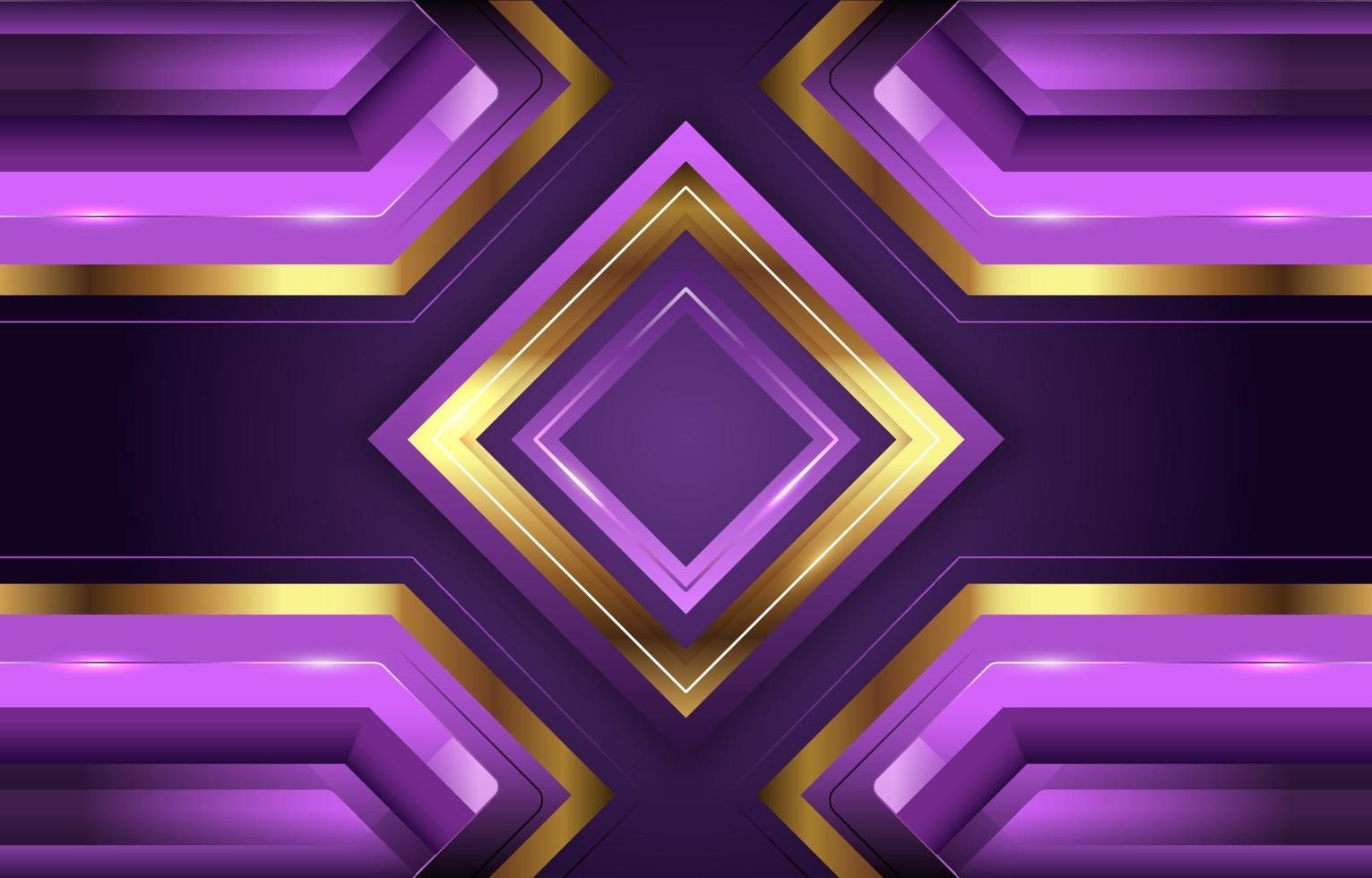 Lavender and Golden Diamond Background vector