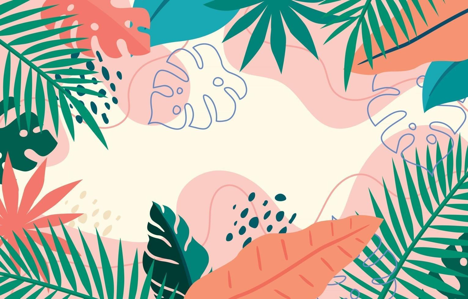 Decorative Colorful Summer Floral Background vector