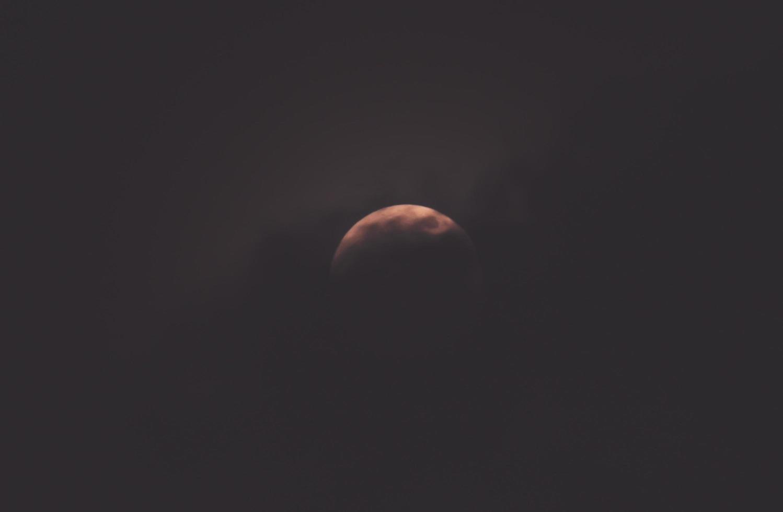 half moon dark cloud photo