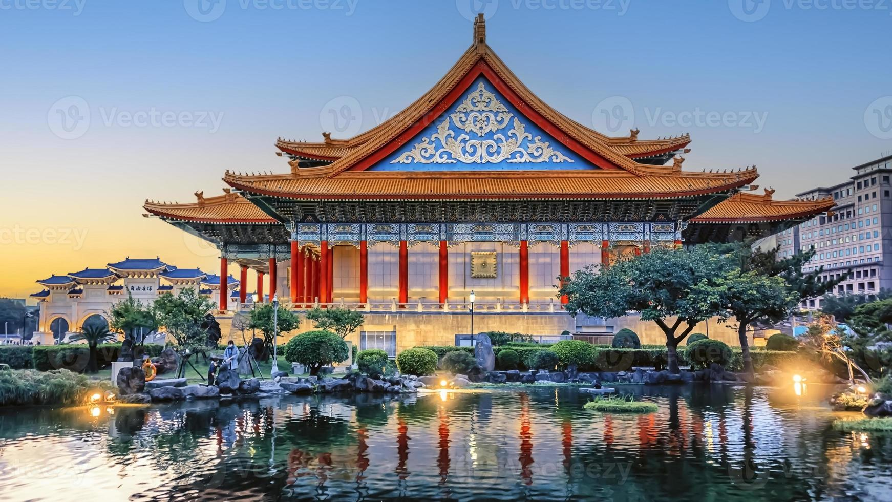 plaza de la libertad en taipei, taiwán foto