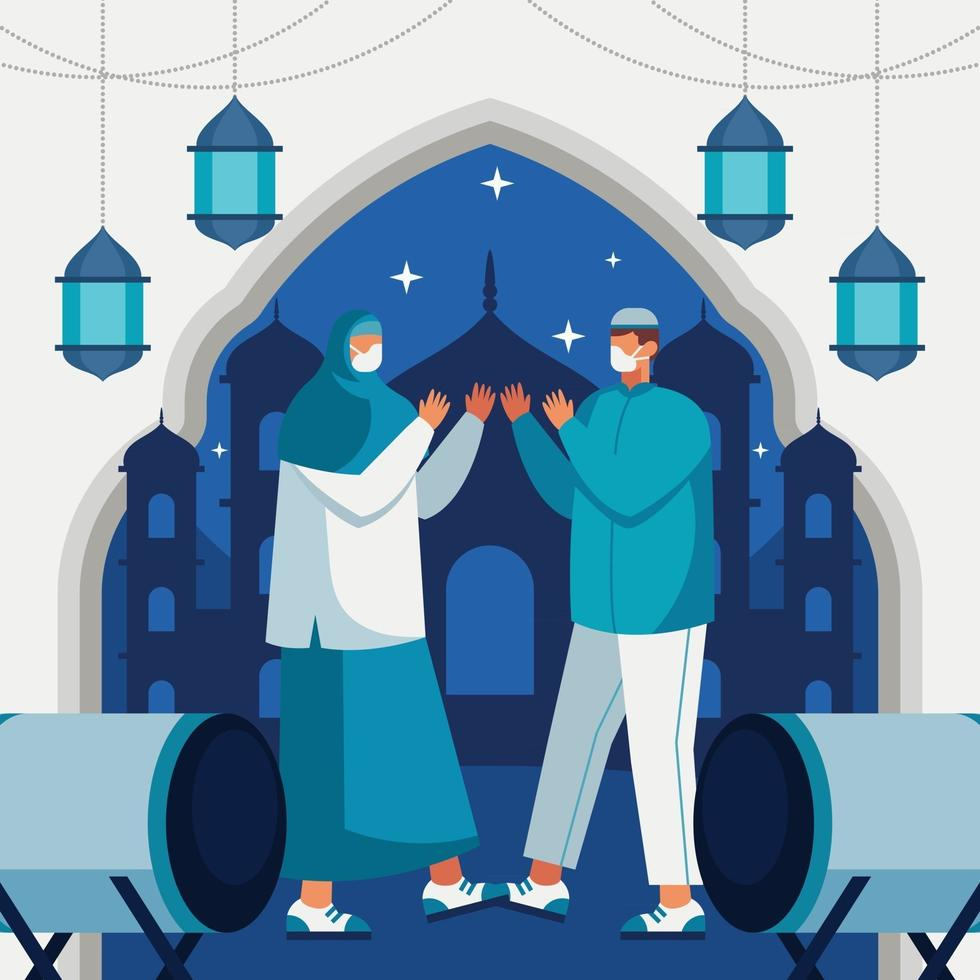 Safely Hang Out With Family During Eid vector